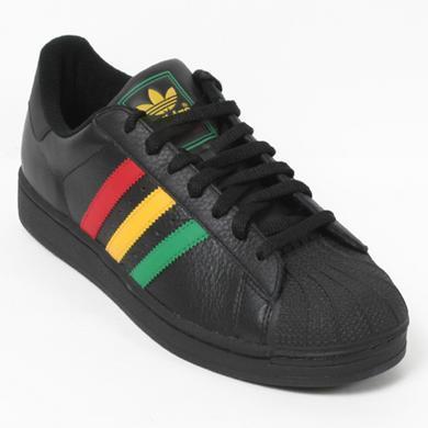 Adidas Superstar 黑雷鬼 牙買加 紅黃綠皮