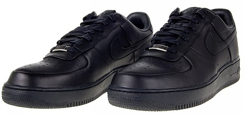 NIKE air force 1 low SUPREME 黑皮革 冠希 周董1