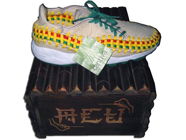Nike Footscape Woven Hemp x ACU x CLOT EDC 冠希木盒終極限量