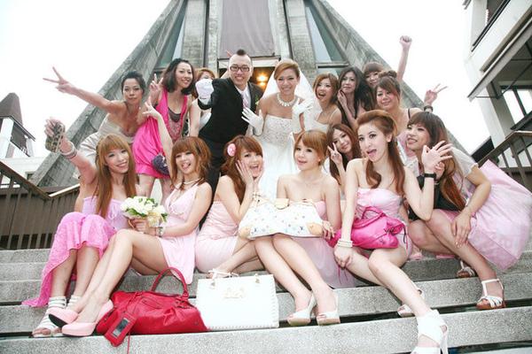 【Jess婚禮】現場最吸睛的粉紅美女軍團