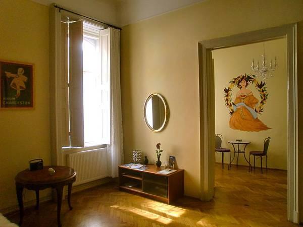 民宿寬敞優雅的客廳