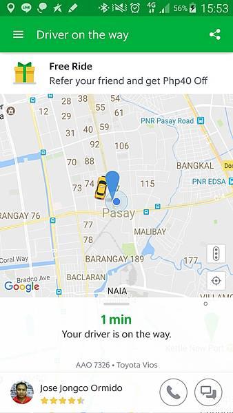 07菲律賓學英文司機正在路上貼心通知GrabVito.jpg