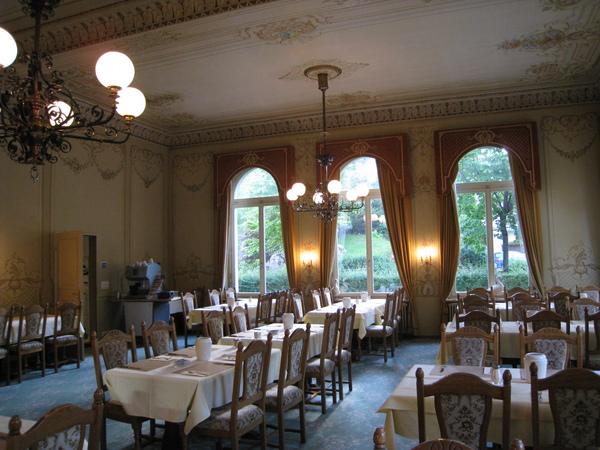 INTERLAKEN飯店早餐用餐的餐廳