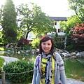 飯店的日式花園,也就是早餐窗外的景色