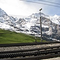 鐵軌是齒狀的,因為要上高山,有很多爬坡路,要用齒軌拉車