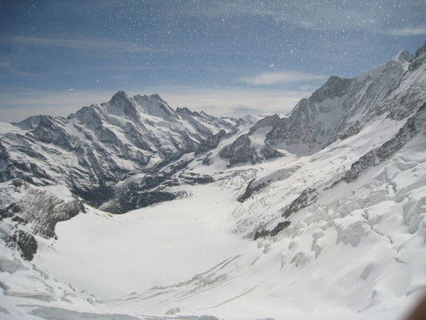 到囉!這就是阿雷奇冰河