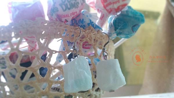 棉花糖耳環