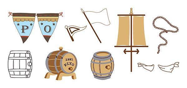橡木酒桶-旗織-領巾