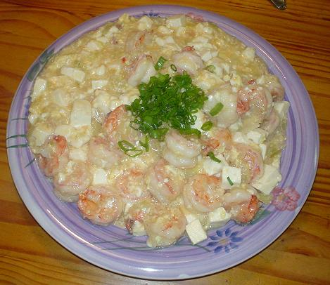 滑蛋蝦仁豆腐-8