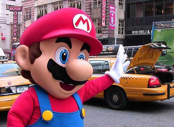 Mario-Hails-A-Cab
