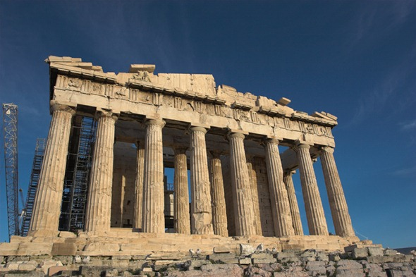 Parthenon_from_West_with_deep_blue_sky