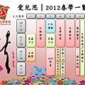 2012春學一覽表