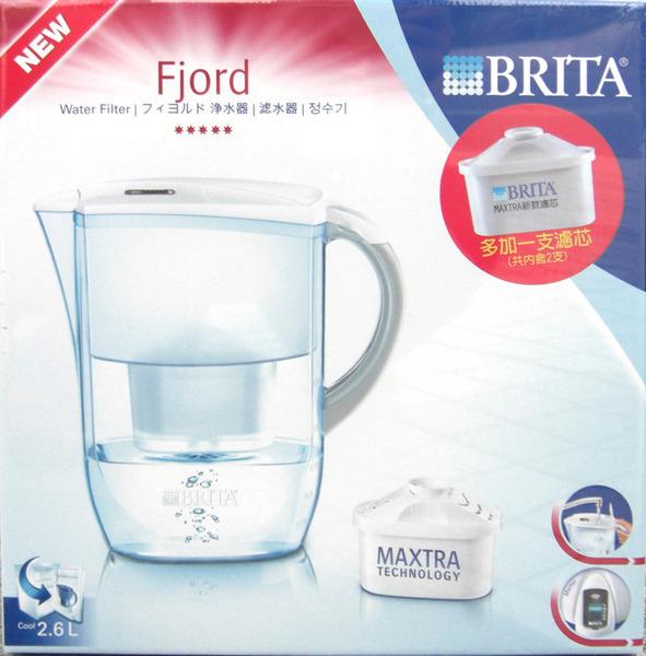 BRITA FJORD 德國科技濾水壼2.6公升 附兩入濾心 1199