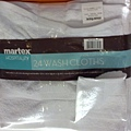 569928 Martex 商用純棉純白方巾 24入 33x33公分 389 02