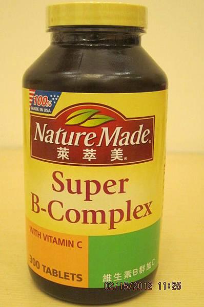 134845 Nature Made 萊萃美 Super B-Complex With Vitamin C 維生素B群加C食品 300粒裝 775 04