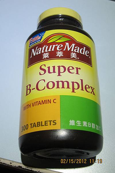 134845 Nature Made 萊萃美 Super B-Complex With Vitamin C 維生素B群加C食品 300粒裝 775 01