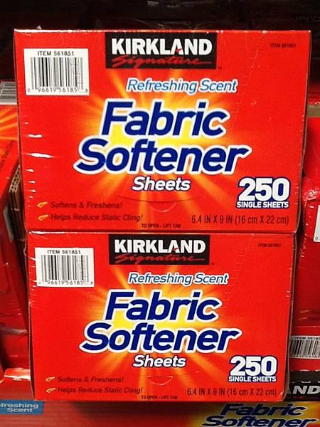 561851 Kirkland Signature 烘衣機柔軟靜電紙 16x36公分 250張 美國 299 02