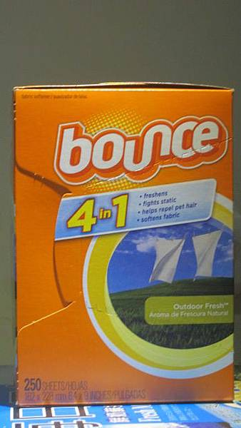 323979 Bounce  衣物纖維柔軟靜電紙 250張 16.2x22.8公分 2年 349 01