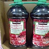 827381 Kirkland Signature 蔓越莓覆盆子綜合果汁飲料 2.84公升x2 原汁含有率94% 329 02