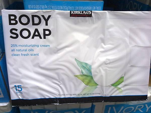 394697 Kirkland Signature Body Soap 進口身體香皂 含1-4乳霜 127公克x15入 美國產 369 02