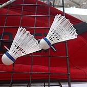74204 YONEX 進口家庭號羽球拍組 2隻拍(球拍超輕鋁合金 中管碳纖維) 一桶球 2個手腕套 1個球拍袋 1649 04