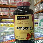 401408 Weider Cranberry Tablet 天然蔓越莓錠 1000毫克 250粒 489 02.jpg
