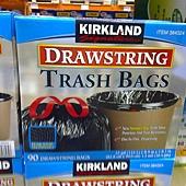 384324 Kirkland Signature 美國進口特大強力垃圾袋 124公升(33加崙)x90個 83.8x99公分 559 02.jpg