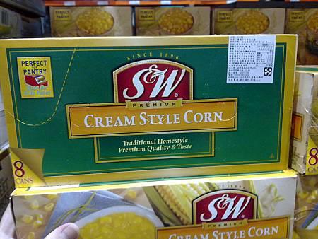 21164 S&W Cream Style Corn 玉米醬 美國製 418公克x8罐 269 03.jpg