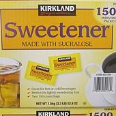 601764 Kirkland Signature Sweetener 糖包 1公克x1500包 美國產 549 01.jpg