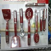 736942 KitchenAid 烹飪用具7件組 適用不沾鍋具 可以用於洗碗機(開罐器除外) 耐熱232度C  紅黑 1359 03.jpg