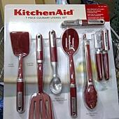 736942 KitchenAid 烹飪用具7件組 適用不沾鍋具 可以用於洗碗機(開罐器除外) 耐熱232度C  紅黑 1359 02.jpg