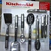 736942 KitchenAid 烹飪用具7件組 適用不沾鍋具 可以用於洗碗機(開罐器除外) 耐熱232度C  紅黑 1359 05.jpg