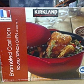 703470 Kirkland Signature 圓形砝瑯鑄鐵鍋 6.1公升 紅或藍 法國製 2899 02