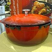 703470 Kirkland Signature 圓形砝瑯鑄鐵鍋 6.1公升 紅或藍 法國製 2899 03