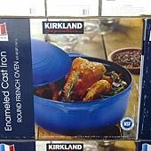 703470 Kirkland Signature 圓形砝瑯鑄鐵鍋 6.1公升 紅或藍 法國製 2899 05