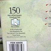 408595 Kirkland Signature 卸妝潔面濕巾 30片x4包 & 15片x2包 共150抽 美國製 389 03