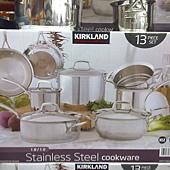673981 Kirkland Signature 不鏽鋼鍋具13件組腹部鏽鋼蓋(平底鍋除外) 泰國製 5999 16.jpg