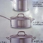 673981 Kirkland Signature 不鏽鋼鍋具13件組腹部鏽鋼蓋(平底鍋除外) 泰國製 5999 13.jpg