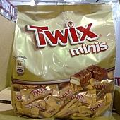 87941 Twix 特趣迷你巧克力 128條共1177公克 產地俄羅斯 399 02