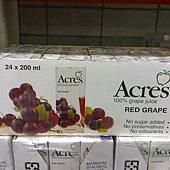 47360 Acres Red Grape Juice 紅葡萄果汁飲料 每組200毫升x24 無添加糖 原汁含有率 99.97% 南非製 339 02.jpg