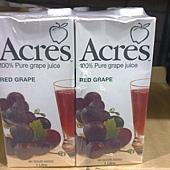 47357 Acres Red Grape Juice 紅葡萄汁 每組1000毫升1公升x6 原汁含有率 99.97% 南非製 339 02.jpg