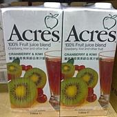 74558 Acres Cranberry Kiwi  Fruit Juice 蔓越莓奇異果綜合果汁飲料 每組1000毫升1公升x6 無添加糖 原汁含有率 99.97% 南非製 339 02.jpg