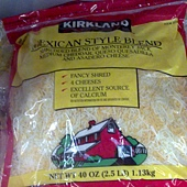 48265 Kirkland Signature Mexican Blend Cheese 墨西哥式乾酪絲(混合)(包裝紅邊) 2.27公斤 美國產 249 02.jpg