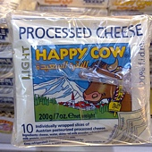58539 Happy Cow Low Fat Slices Processed Cheese 快樂牛低脂切片乾酪 200公克x6包 奧地利產 冷藏 315 02
