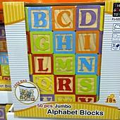 101942 Jumbo Alphabet Blocks 班恩傑尼 益智玩具 智樂木 50件組 適合18個月以上 紐西蘭松木 中國產 499 02