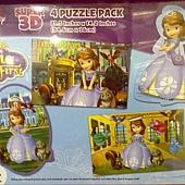 981170 3D立體人物木製拼圖4入 復仇者聯盟 或 Sofia 公主 4種圖案 適合6歲以上 479 10