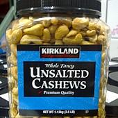 797464 Kirkland  Signature Unalted Cashews  無調味腰果 1.13公斤 美國產 579 02