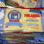 95488 Finlandia  Light Swiss Cheese(Light Lactose Free Cheese) 瑞士去乳糖乾酪 907公克 芬蘭產 319 02