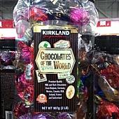 912498 Kirkland Signature 巧克力之最綜合桶 10種口味 907公克 美國進口 439 20141028 02