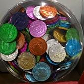 99464 Belgian  彩色錢幣牛奶巧克力 1公斤 荷蘭製 379 03